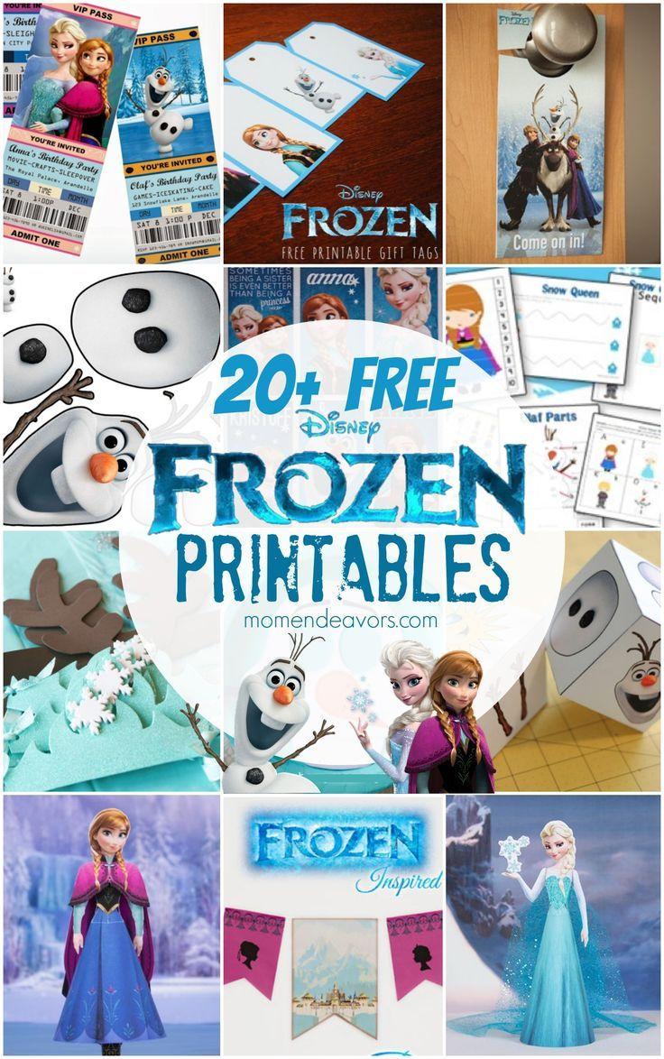 free disney frozen printables party decor activity sheets