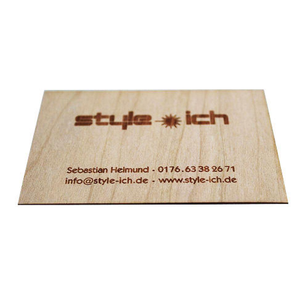Einladungskarten Visitenkarten Aus Holz Holz