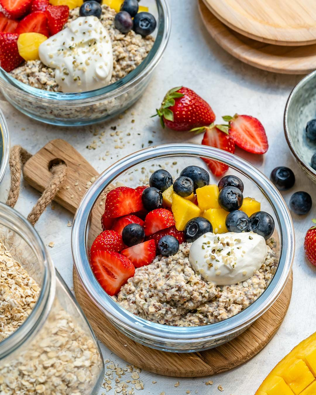 Overnight Oat Meal Prep Bowls images