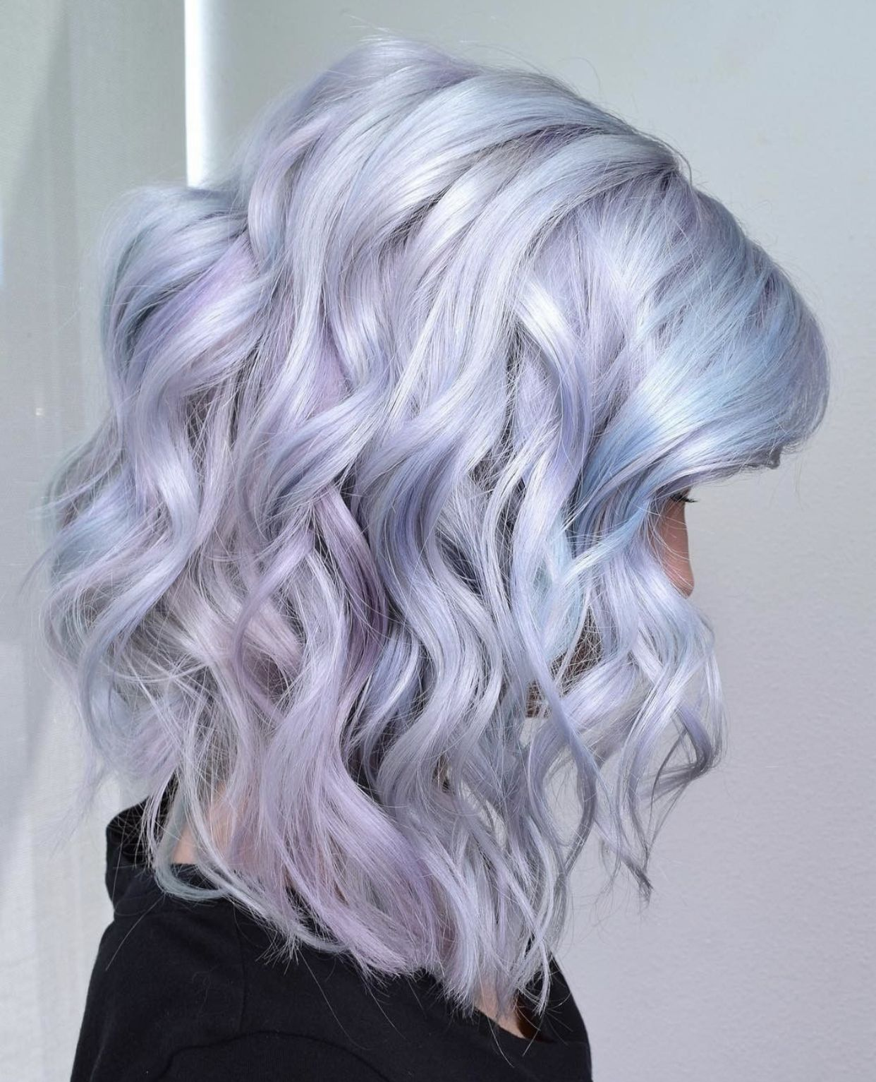 Hair Goals Pale Pastel Blue Purple And Pink Hair Color Light