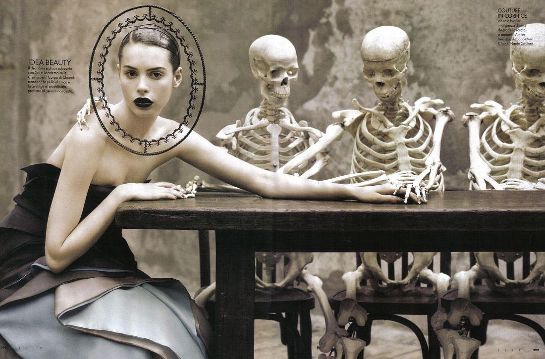 Morbid Classroom Editorials: Evolution of The Species in Elle Italia