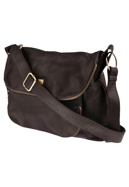 0daf1a699 Bandolera Negra Prüne Multi Cierres | Tina handbags and fashion ...