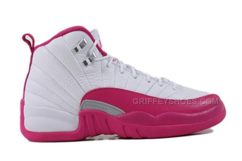 women's air jordan 12 gs dynamic pink