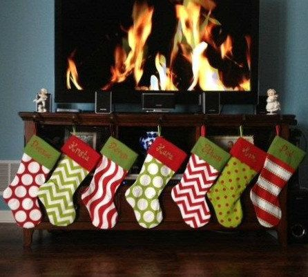 Sale 2 PERSONALIZED CHRISTMAS STOCKINGS by Sweetlittlethings4u ...