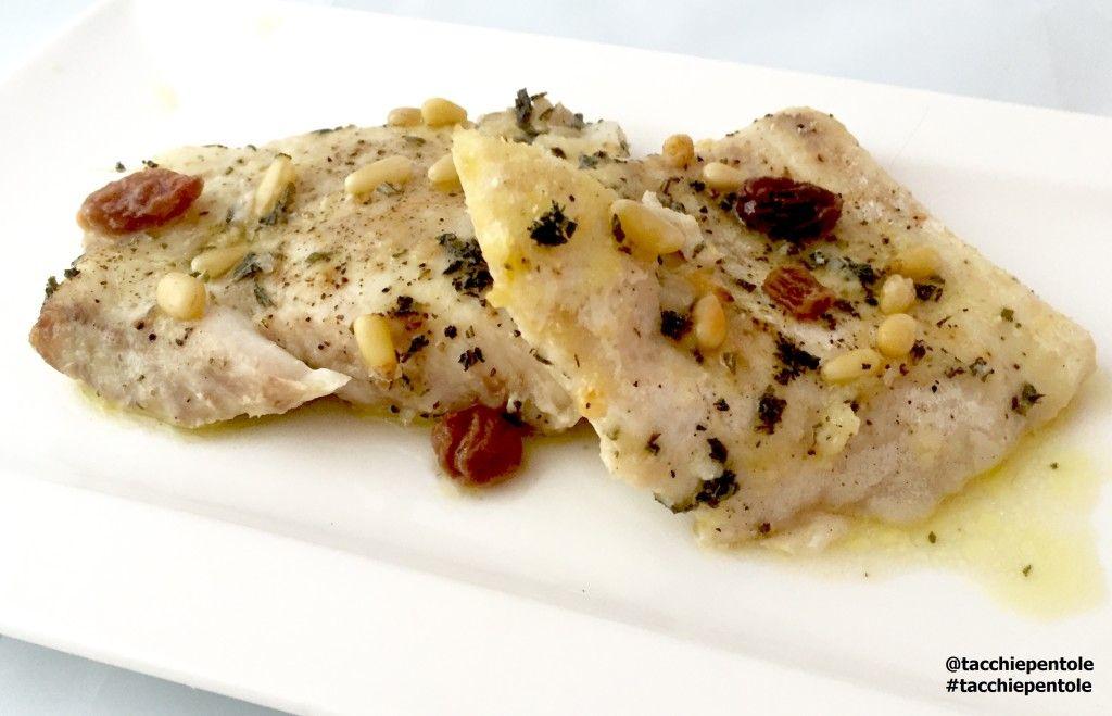 Filetti di pesce persico al forno con uvetta pinoli ed - Cucinare pesce persico ...