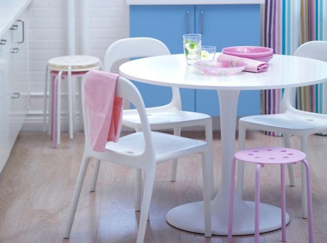 Ikea Chaise Blanche Et Tabouret Rose Design Cores Suavessoft