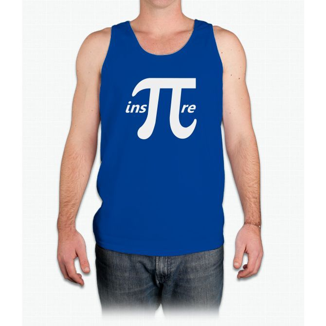 Inspire Inspirational Pi Symbol Mens Tank Top Products