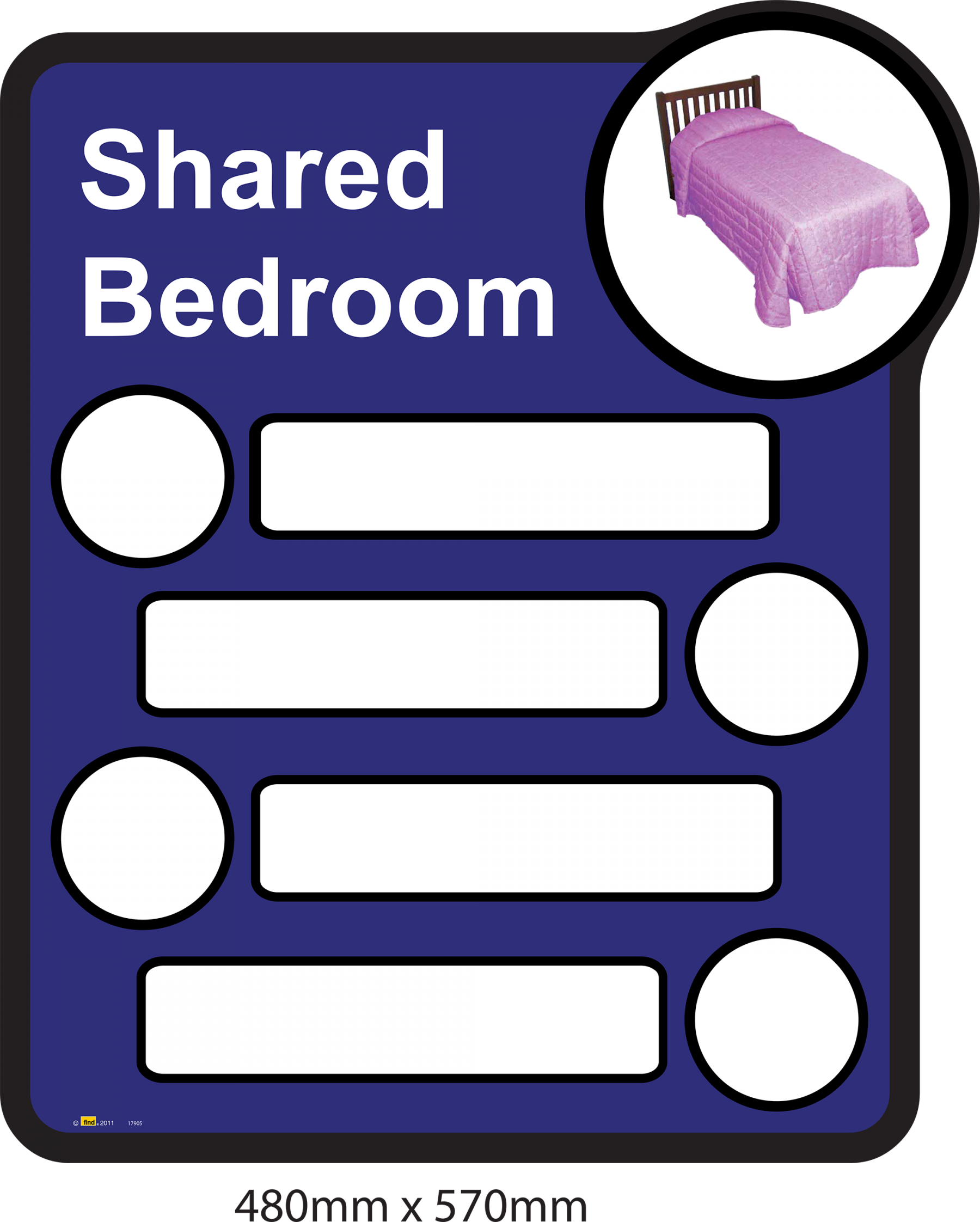 Bathroom Signs Dementia interchangeable signage - for bedrooms, toilets and bathrooms
