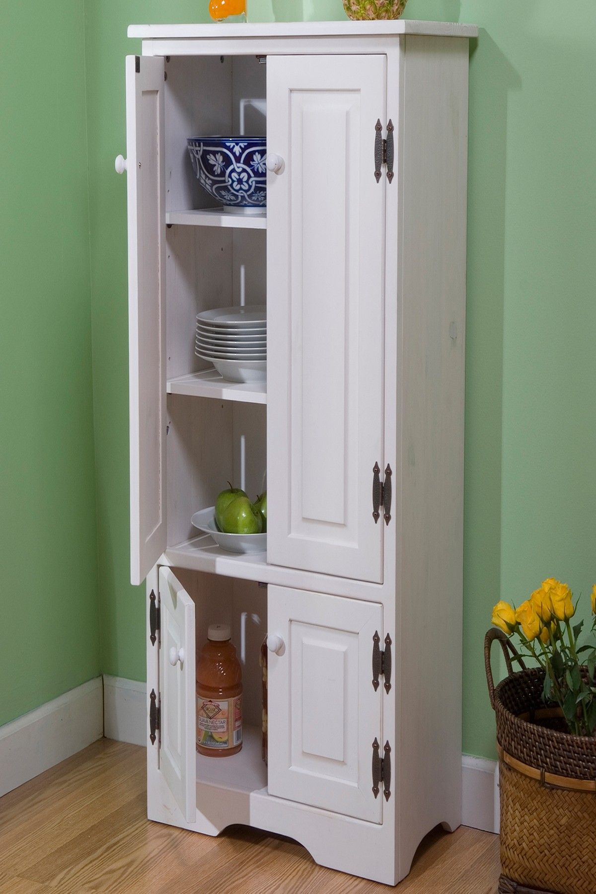 Make shift pantry extra tall white cabinet on hautelook