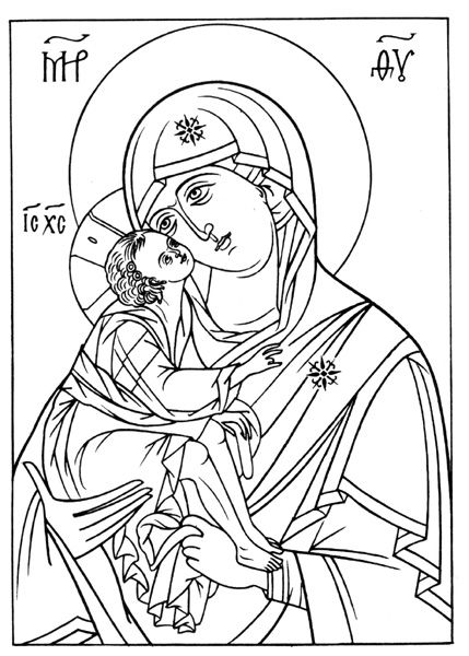 printable orthodox icon coloring pages   Orthodox Icons Coloring Pages v roku 2019