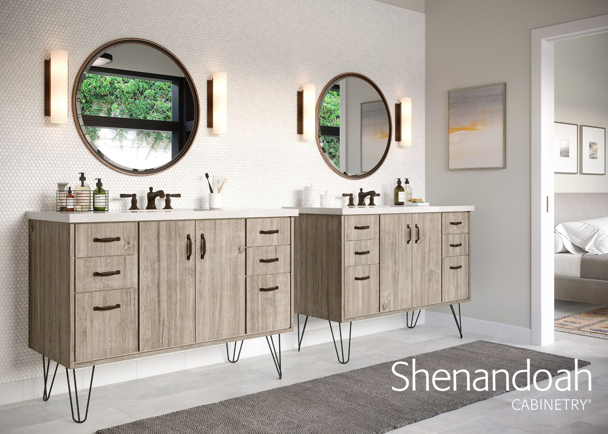 Best Pin By Shenandoah Cabinetry On Beautify Your Bathroom 400 x 300