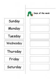 Activities - Cut and paste the correct order of the days of the ...