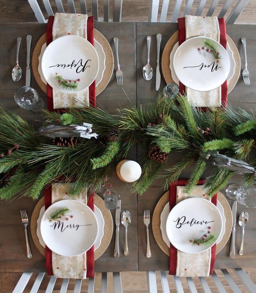 4 Set Holiday Plates Styling Samy Christmas Place Settings Christmas Dinner Table