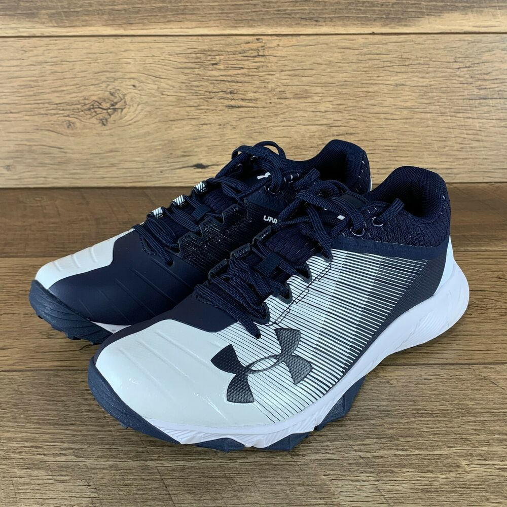New Under Armour Ua Yard Low Training Shoes Midnight Navy White Size Men S 8 Us 190510758208 Ebay In 2020 Training Shoes Mens Athletic Shoes Navy And White