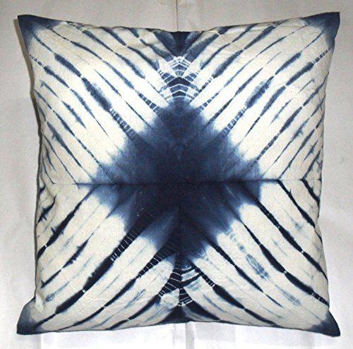 Shibori Pillowcases Tie Dye Cushion Cover 16x16 Indigo Pillows Decorative Throw Indian Outdoor Cushion Indigo Pillows Shibori Pillow Case Shibori Pillows
