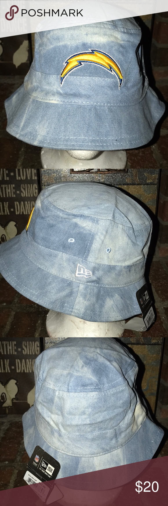 187ae13d546 New Era San Diego Chargers Bucket Hat Hat is brand new and never worn! 100% Authentic  New Era Accessories Hats