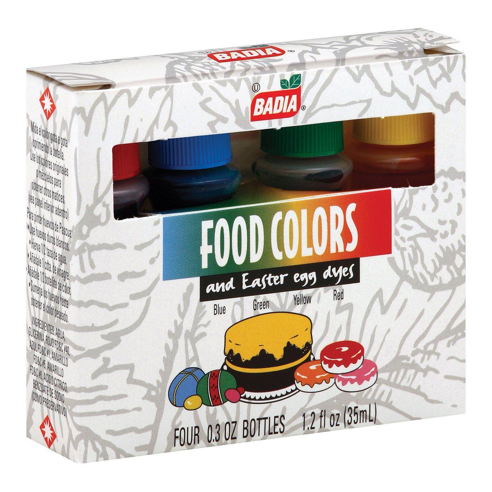 Badia Spices Food Colors Case Of 12 1.2 Fl Oz. Food