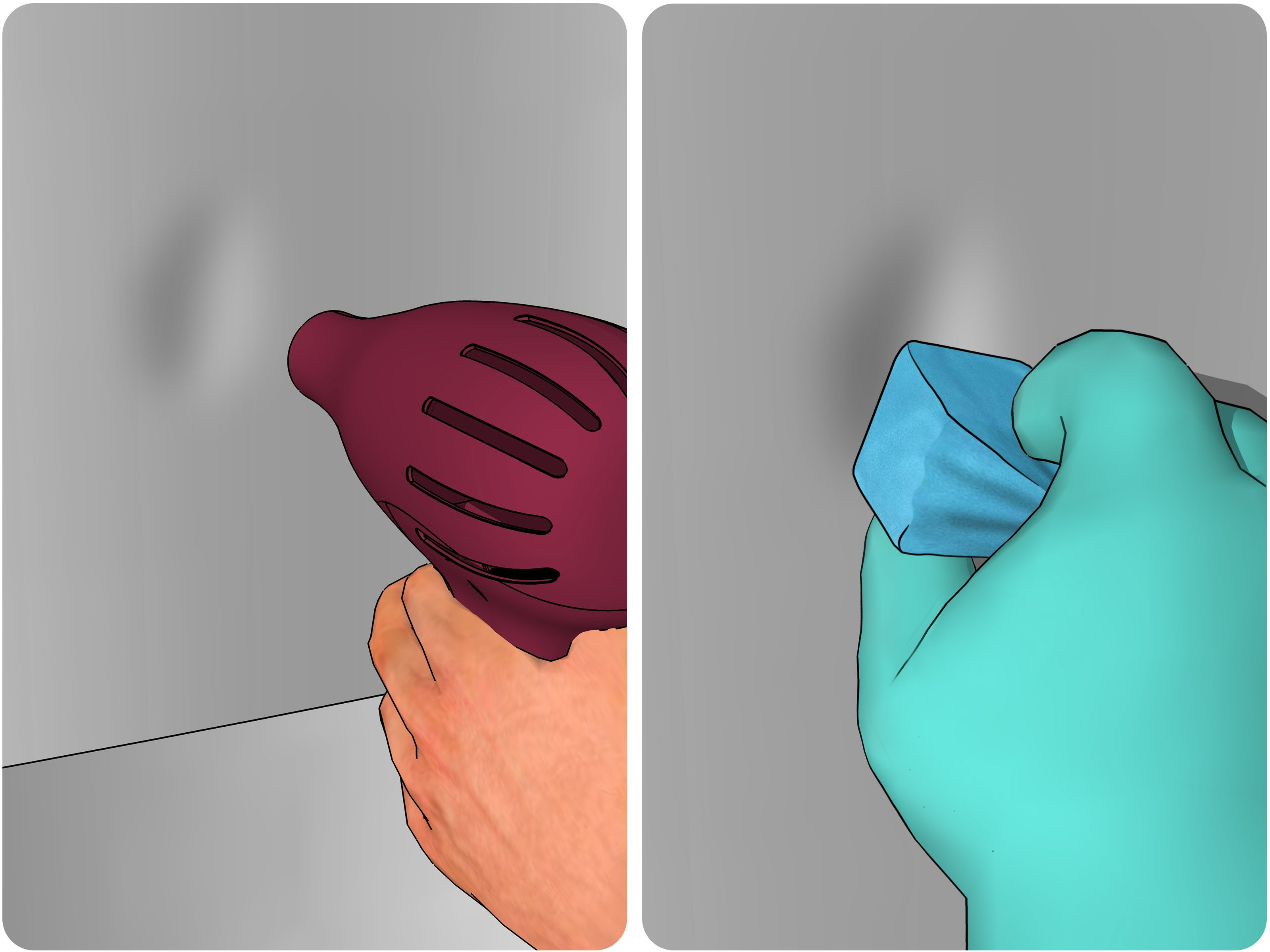 How To Remove A Dent From A Stainless Steel Refrigerator    Via WikiHow.com