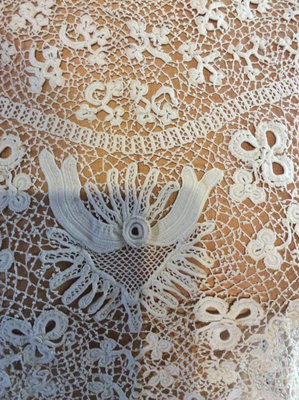 Vintage Antique Edwardian Victorian Hand Made Irish Crochet Lace