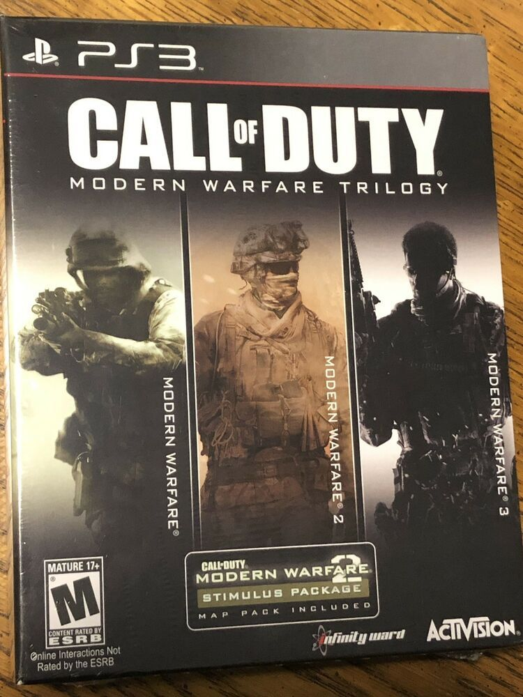 Call Of Duty Modern Warfare Trilogy Playstation 3 Ps3 New