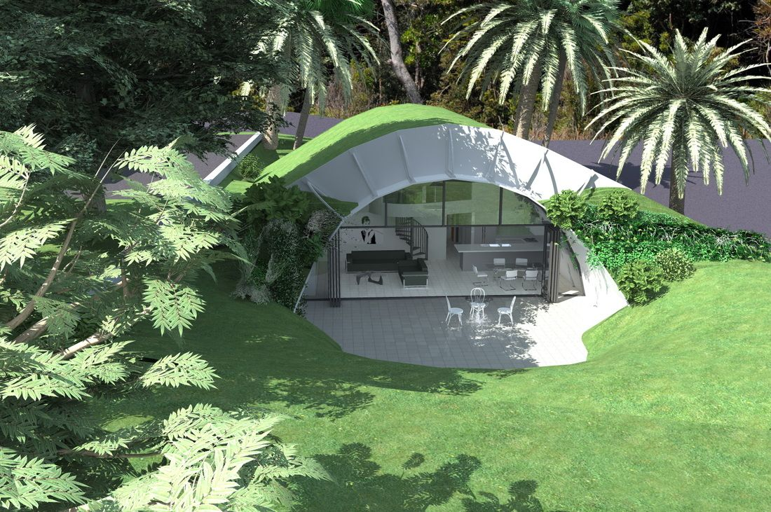 Concrete Earth Bermed House Earth Sheltering Energy