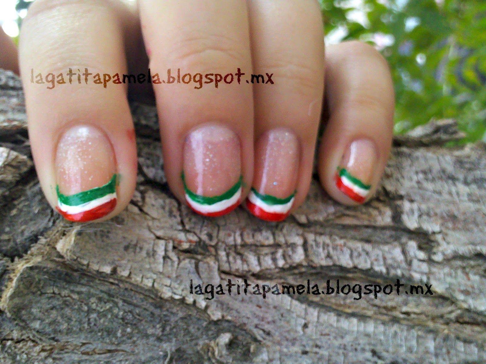 Gatita\'s nail art: Dia de la independencia en México!!! uñas muy ...