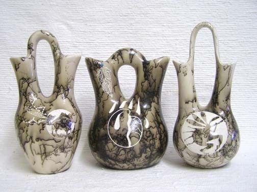 Native American Made Ceramic Horsehair Wedding Vase Pottery