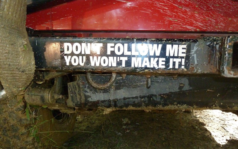 jeep bumper sticker