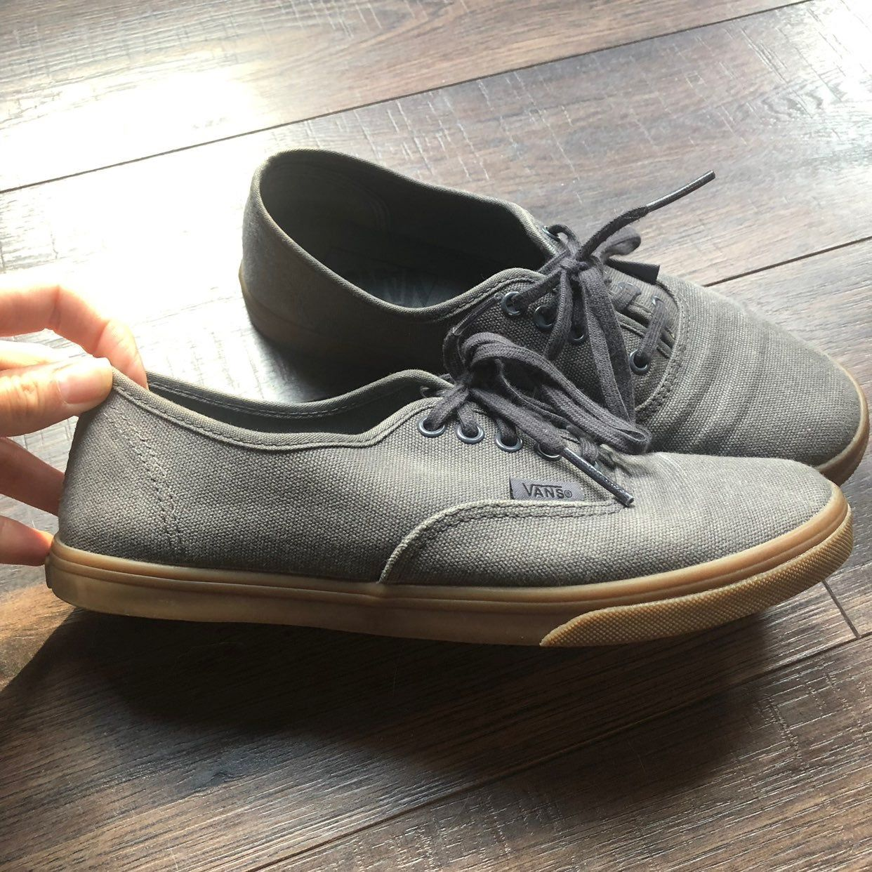 like new vans. barely used. has some defects to gum sole as