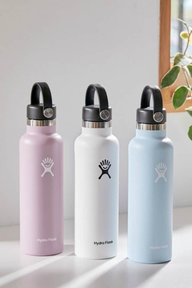 The 11 Best VSCO Girl Gift Ideas is part of Flask water bottle, Hydro flask bottle, Cute water bottles, Hydro flask water bottle, Hydroflask, Flask - Being a VSCO girl is the new teen trend  they wear oversized shirts, puka shell necklaces, scrunchies, Birkenstocks, and shows environmental concerns by carrying a Hydro Flask water bottle and a reusable straw  Here are The 11 Best VSCO Girl Gift Ideas