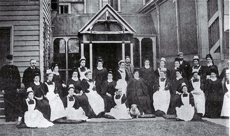 Nursing Staff At Christchurch Hospital 1890 S Christchurch Nurse Hospital