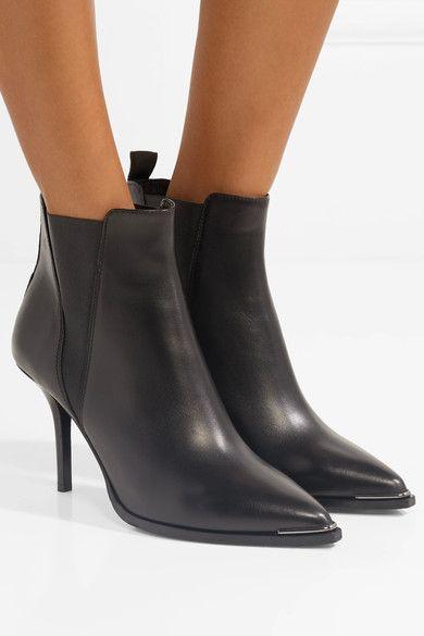 Jemma Leather Ankle Boots - Black Acne Studios K4kL3