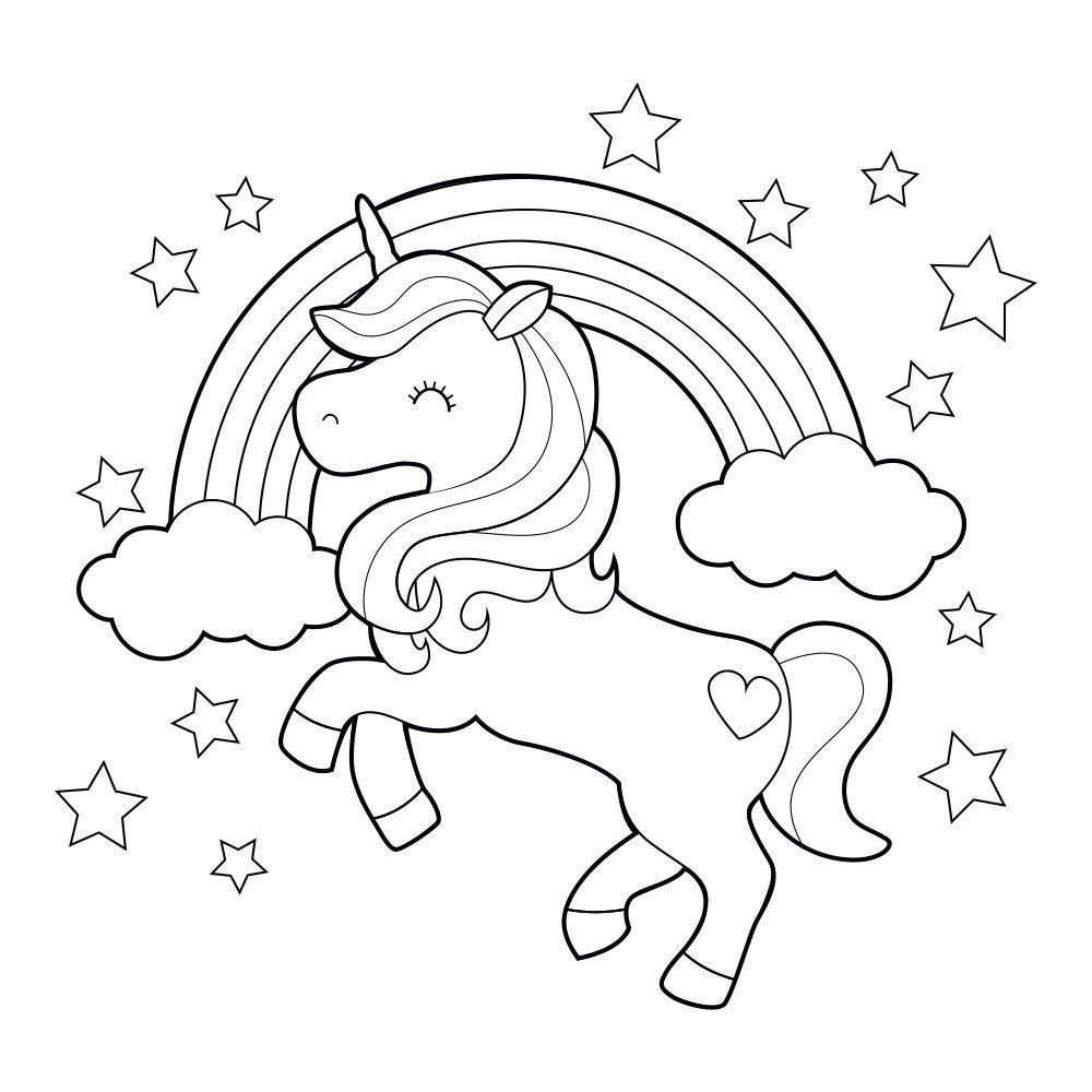 Licorne Arc En Ciel Coloriage