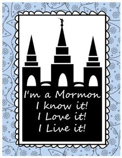 Visiting Teaching Tips, Handouts and Ideas: I'm a Mormon
