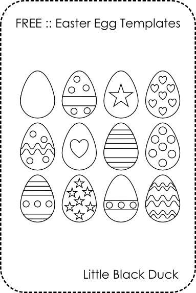 Free Easter Egg Templates Easter Pinterest Easter egg template