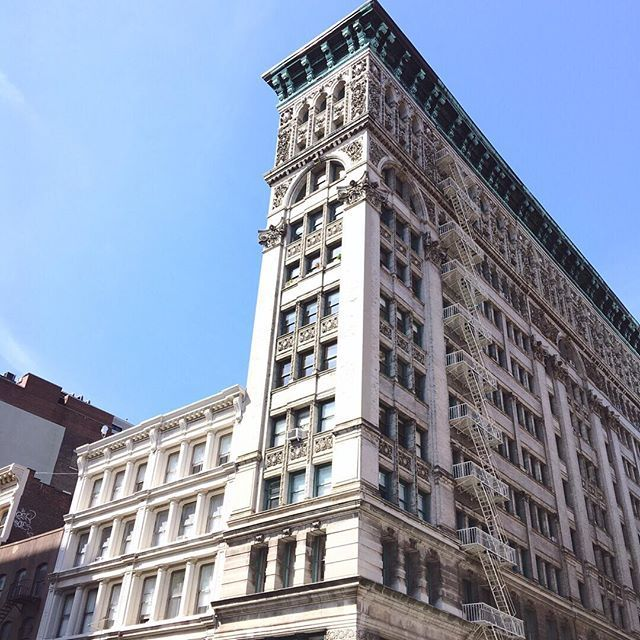 Don't forget to look up when shopping in SoHo. The cast iron buildings have some pretty incredible detail.