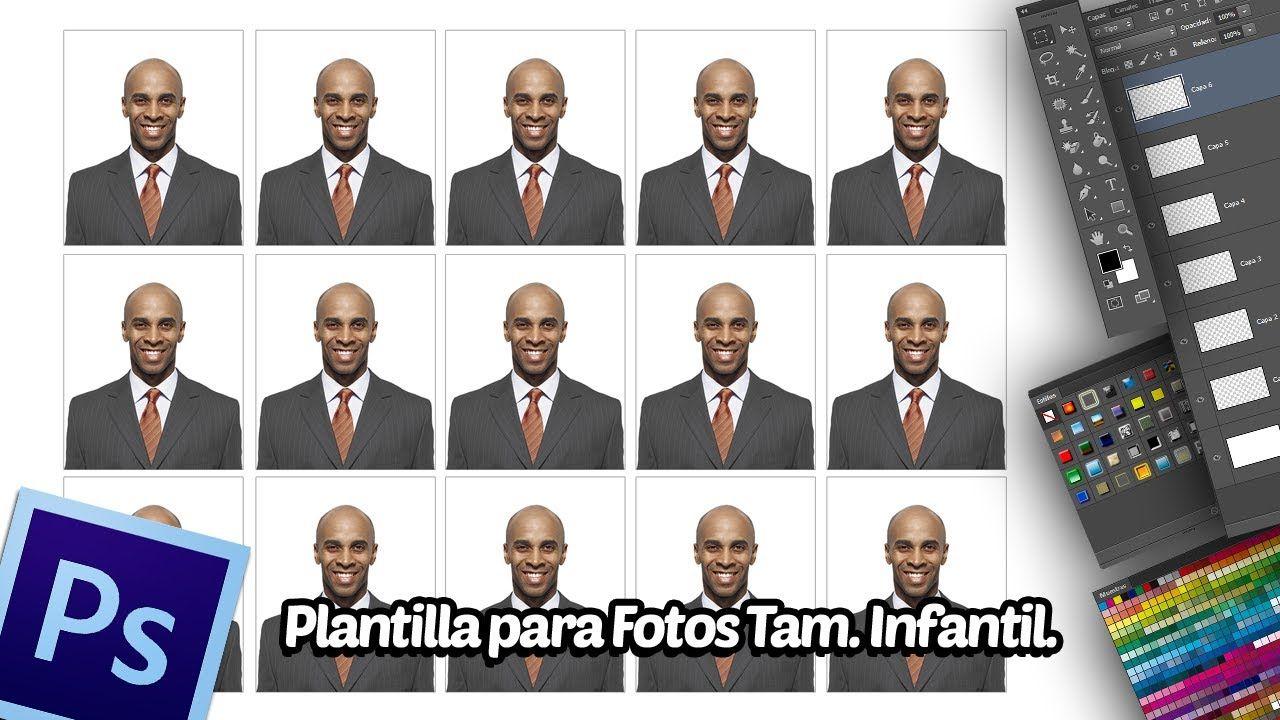 Tutorial Photoshop: Crear Plantilla para Fotos Tamaño Infantil.
