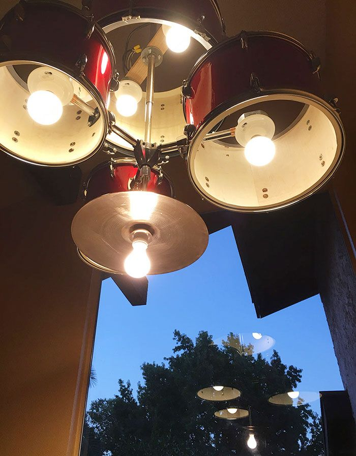 How to create an amazing chandelier from a drum set drumdrummer how to create an amazing chandelier from a drum set aloadofball Choice Image