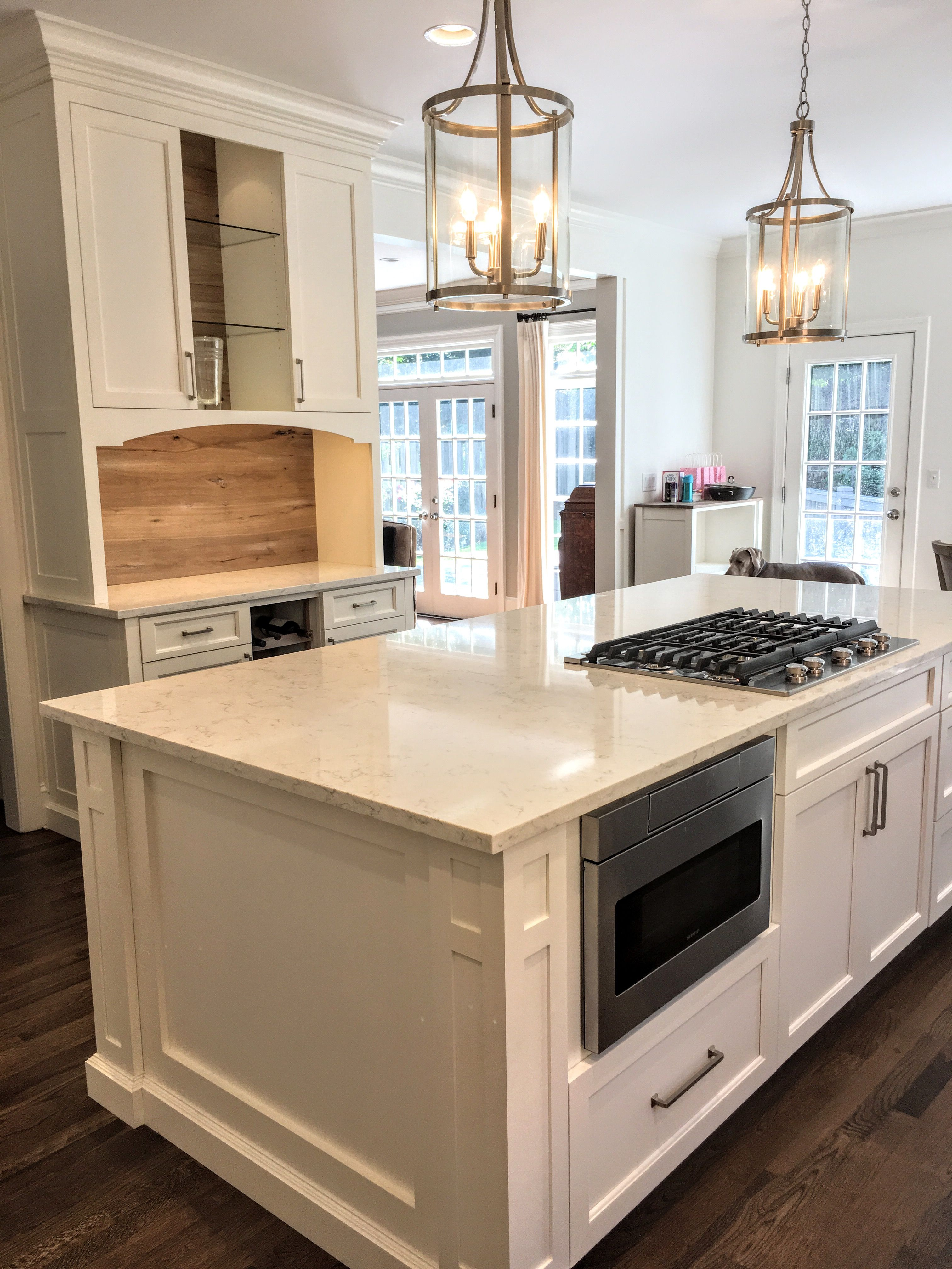 Finished Kitchen Shaker Doors On Full Overlay Cabinets Finished In Sherwin Williams G Kitchen Design Modern Kitchen Design Kitchen Design Modern Contemporary