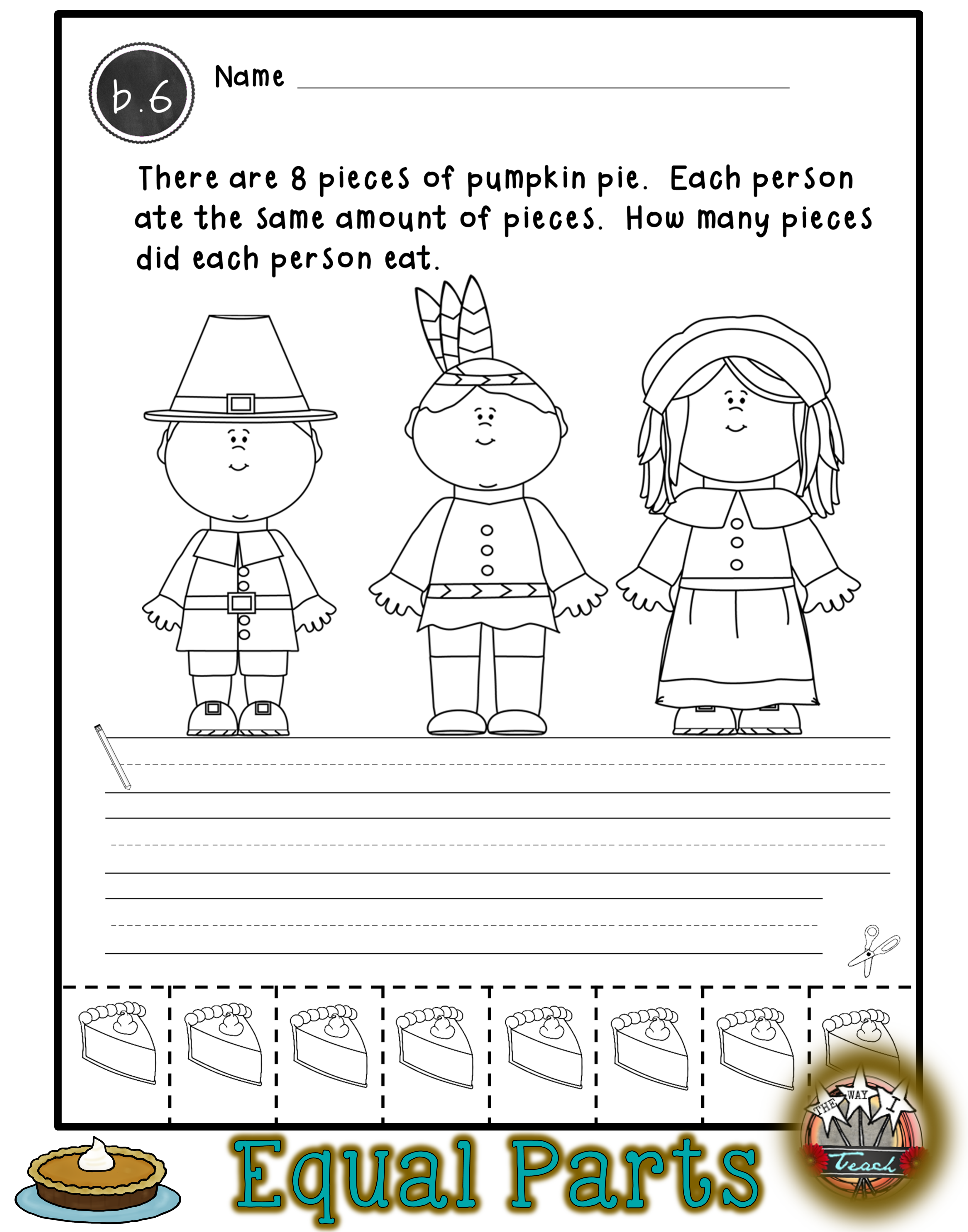 Thanksgiving Math Worksheets Addition Story Problems