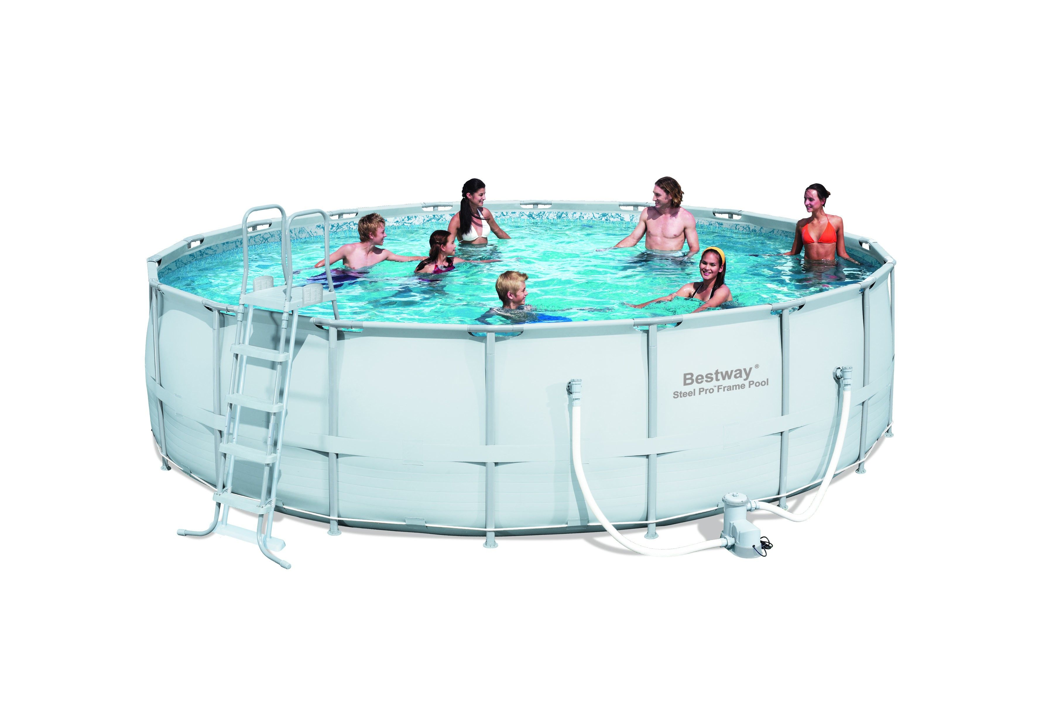 Piscine Hors Sol Tubulaire Bestway Frame Ronde 549x132cm