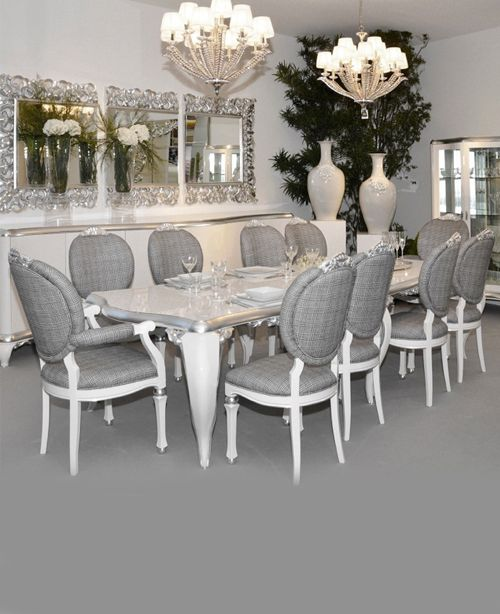 White lacquered dining set *Juliette\u0027s Interiors Pinterest