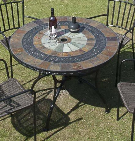 Amazing Patio Furniture: Alcira Mosaic Patio Table