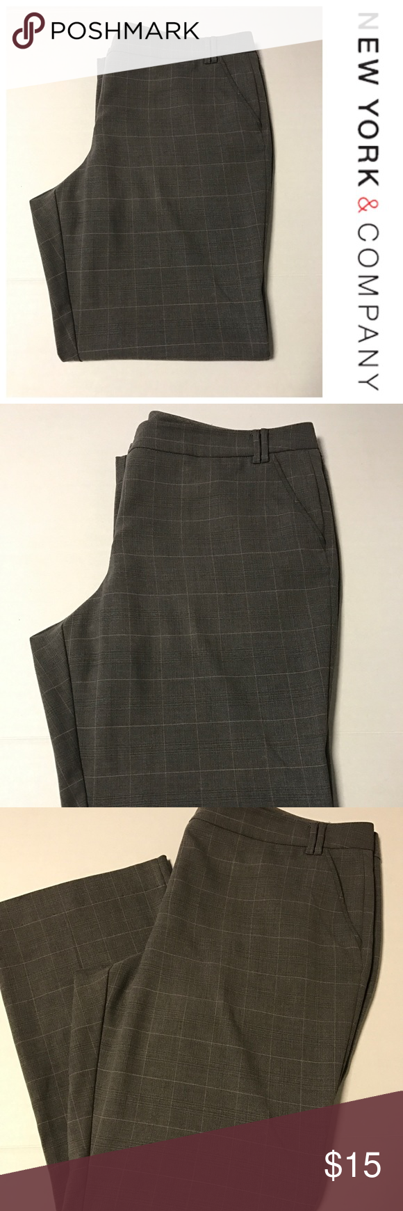 """New York & Co Bootcut Pants Great condition, almost new. No stains, rips or tears. Inseam measures 29"""", leg opening measures 10"""". Material is 80% Polyester, 18% Rayon, 2% Spandex. New York & Company Pants Boot Cut & Flare"""
