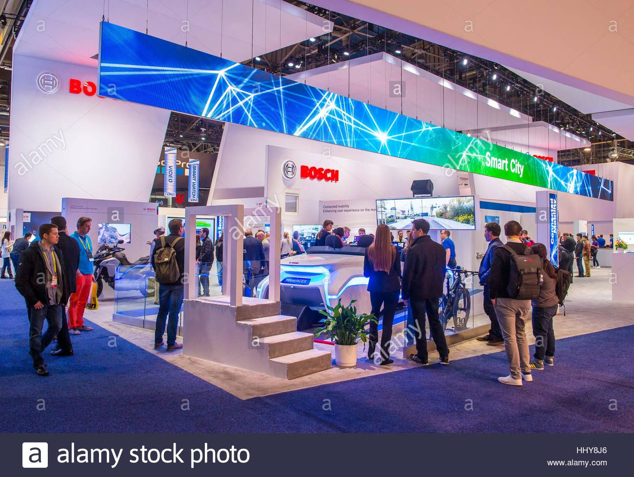 las vegas jan 08 the bosch booth at the ces show in las vegas on january 08 2017 ces is. Black Bedroom Furniture Sets. Home Design Ideas