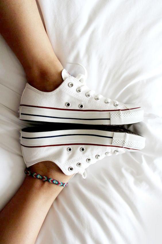 zapatillas converse all star blancas mujer
