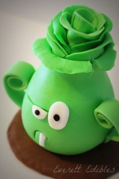 Awesome Plants vs Zombies Bonk Choy Cake Topper plantasvzombies