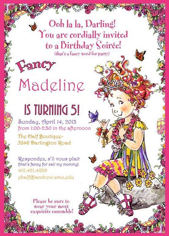 my daughter s birthday party invitation fancy nancy 5th birthday