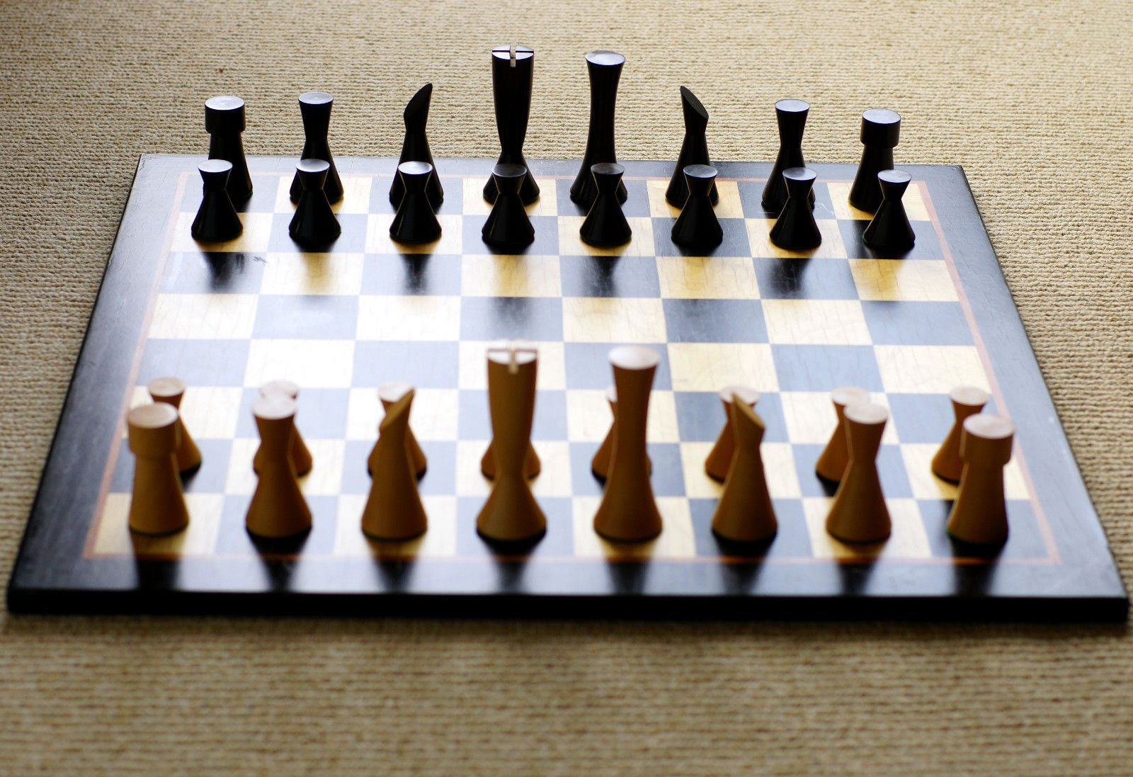 Vintage Mid Century Modern Wood Chess Set Chopra Chess 03 5137 Ebay Wood Chess Set Mid Century Modern Wood Wood Chess