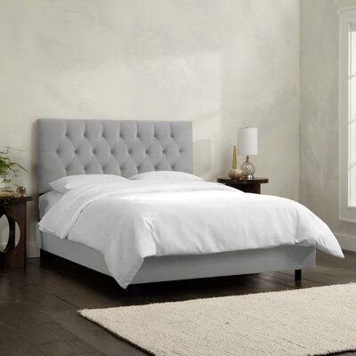 Kelly Clarkson Home Carly King Tufted Upholstered Low Profile Standard Bed In 2021 Black Upholstered Bed Upholstered Beds King Upholstered Bed
